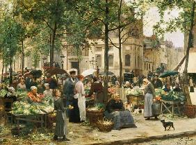 The Square in front of Les Halles 1880