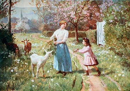 Easter Eggs in the Country 1908