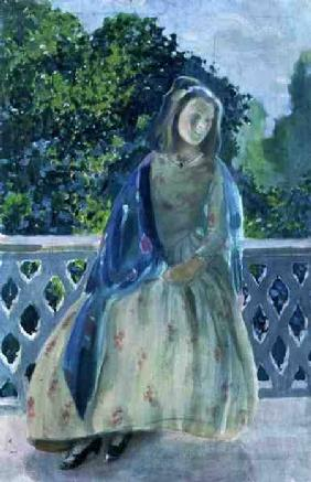 Girl on Balcony 1900