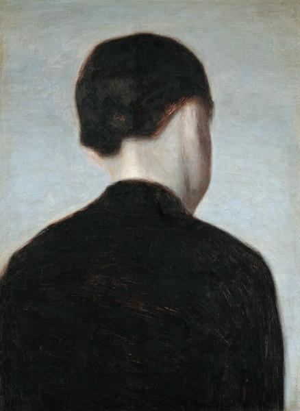 Seated Figure, Seen from Behind 1884