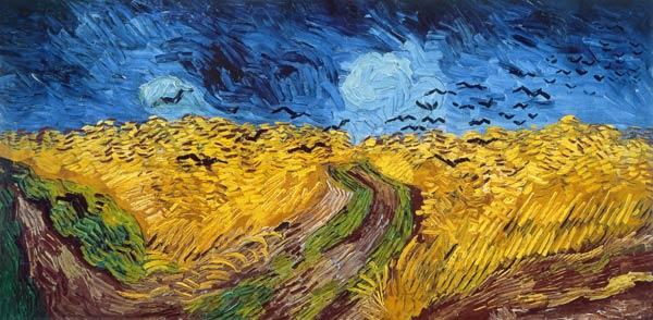 Vincent van Gogh - Weizenfeld mit Raben