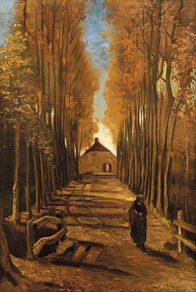 Pappelallee im Herbst Vincent van Gogh als Kunstdruck oder