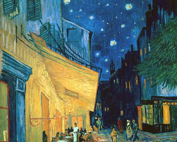 Cafe terrace place du forum arles vincent van gogh als for De slaapkamer vincent van gogh