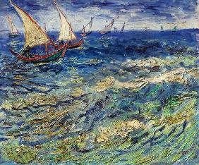 Seascape at Saintes-Maries (View of Mediterranean) 1888