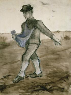 The Sower, 1881 (pencil, pen & brown