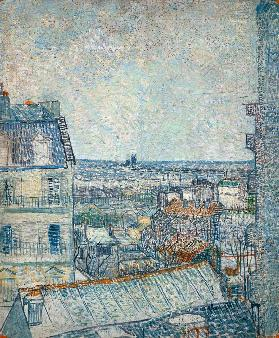 View from Vincent's room in the Rue Lepic 1887