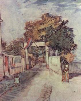 French street scene with access to a vantage point 1887