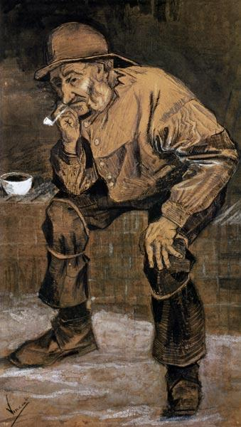 Old man with a pipe 1883  & in