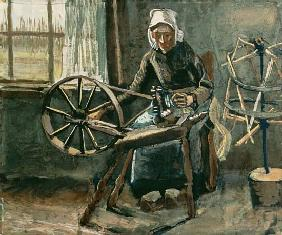 Peasant Woman Winding Bobbins 1884  pape
