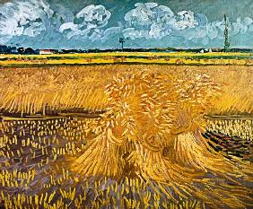 Wheatfield with Sheaves 1888