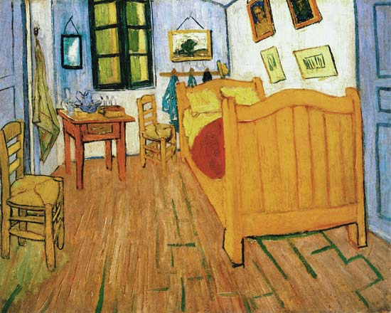 vincents schlafzimmer in arles vincent van gogh als