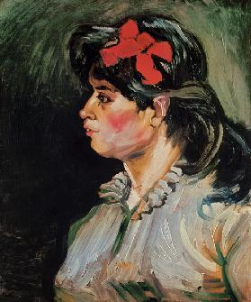 Portrait of a Woman with a Red Ribbon 1885