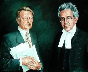 Mr. Justice Moses with his Clerk
