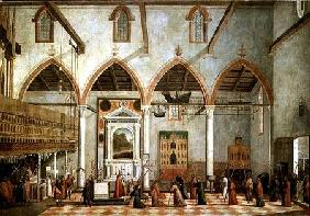 Apparition of the Crucified of Mount Ararat in the Church of Sant' Antonio di Castello c.1512