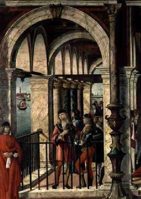 The Arrival of the English Ambassadors, detail, from the St. Ursula cycle 1498