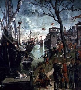 Arrival of St.Ursula during the Siege of Cologne, from the St. Ursula Cycle 1498