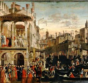 The Miracle of the Relic of the True Cross on the Rialto Bridge 1494
