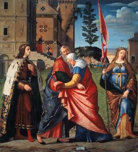 The Meeting at the Golden Gate with Saints 1515