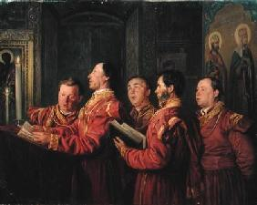 Choristers in the Church 1870