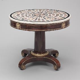 Neo-Classical Table with specimen marble top