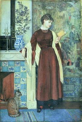 At Home: A Portrait, 1872 (tempera on paper) 17th