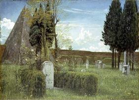 The Grave of Shelley, 1873 (w/c on paper) 20th