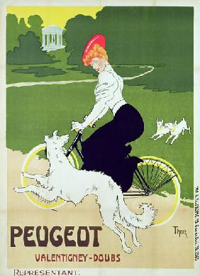 Poster advertising Peugeot bicycles, printed by G. Elleaume c.1910
