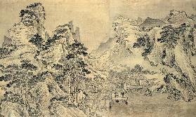 View from the Keyin Pavilion on Paradise (Baojie) Mountain 1562