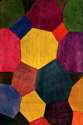 Coloured Hexagons 1925
