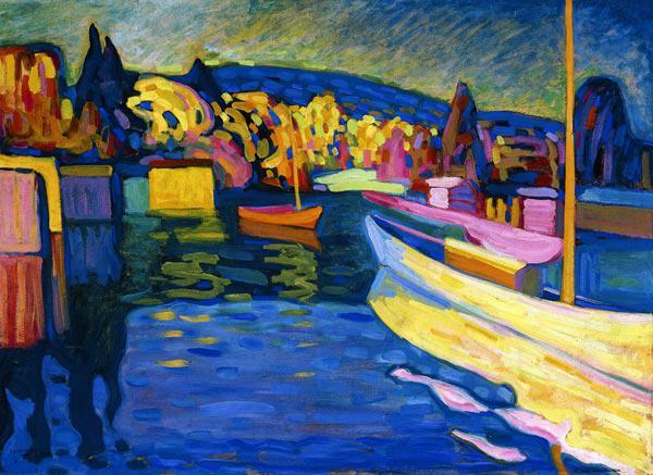 Impressionist Blue Painting