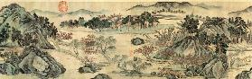 The Peach Blossom Spring from a poem entitled 'Tao Yuan Bi Jing' written by Wang Wei (701-761) 1524