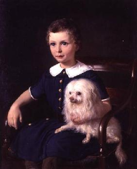 Study of a Boy with Pet Dog 1860