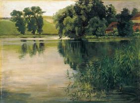 Kunstdruck von Wilhelm Trübner - An einem kleinen See