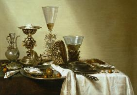 Still Life with Oysters and Nuts 1637