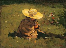Girl in the grass c.1895