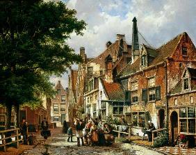 Kunstdruck von Willem Koekkoek - Street scene