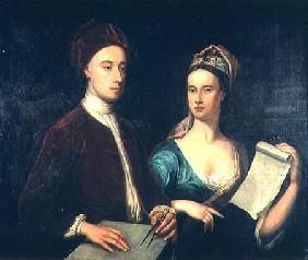 Portrait of Richard Boyle, 3rd Earl of Burlington (1695-1753) and his wife Lady Dorothy Savile (169 1723