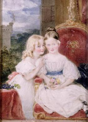 The daughters of Charles, 5th Duke of Richmond (oil on canvas) 1949