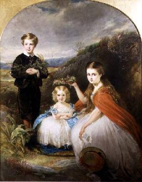 Portrait of the Middleton Children: Jessie Caroline (Colla) (b.1851) Alfred Harold (b.1857) and Alic 1864