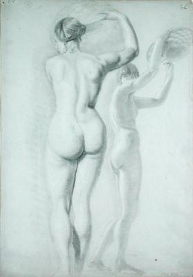 Figure studies (pencil on paper) C16th