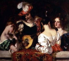 "The Lute Player: ""When soft notes I the sweet lute inspired, fond fair ones listen'd and my skill ad fond fair"