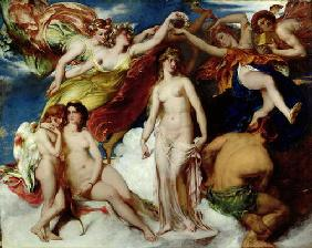 Pandora Crowned by the Seasons, 1824 (oil on canvas) C16th