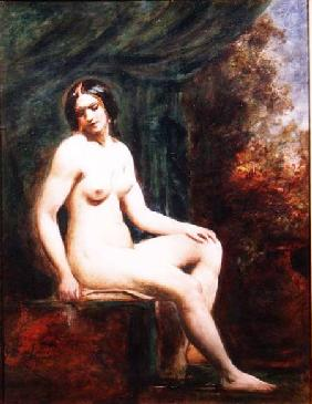 Seated Female Nude (board)
