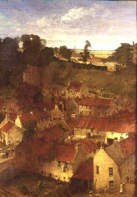 The Village of the Water of Leith from a Window in Rothesay Terrace 1878