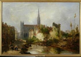View of the Church of St. Peter, Caen 1841