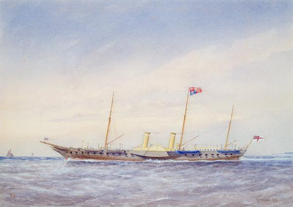 The Royal Yacht Osbourne 1876  on