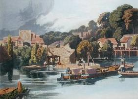 Wallingford Castle in 1810 During Bridge Repairs published