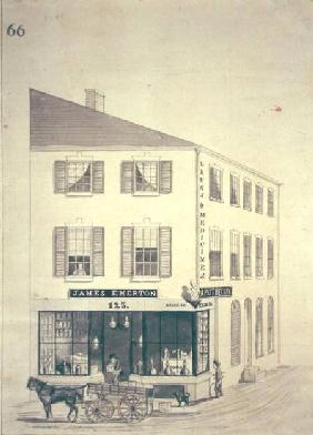 Apothecary shop of James Emerton in Salem c.1850  &