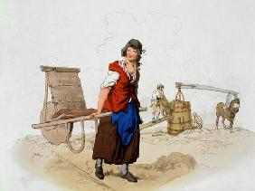 Brick Maker, from 'Costume of Great Britain', published by William Miller, 1805 (colour litho) 1855