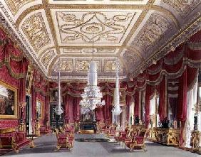The Crimson Drawing Room, Carlton House from Pyne's 'Royal Residences' 1818